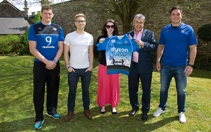 Samantha Lodge With Guests Visit Bath Rugby at Farleigh House