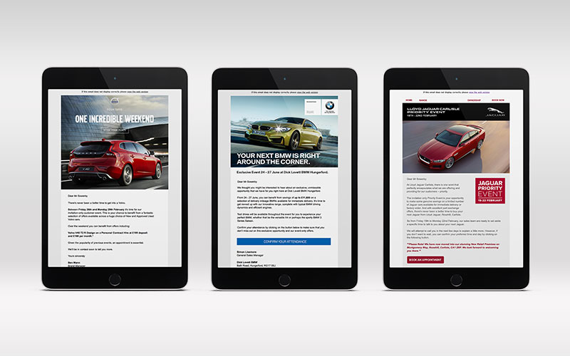 3 automotive email campaigns