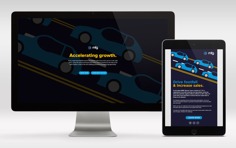 MFG Drive Footfall Landing Page and Email