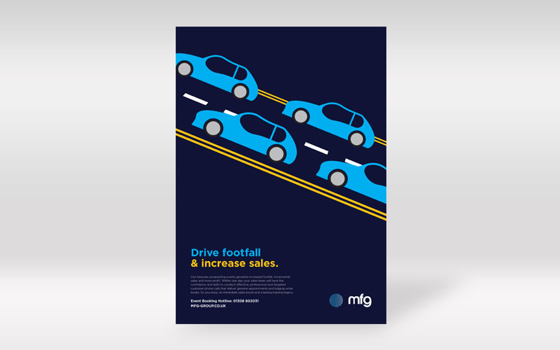 MFG Drive Footfall Print Advert