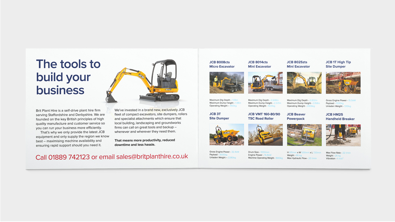Brit Plant Hire Product Brochure