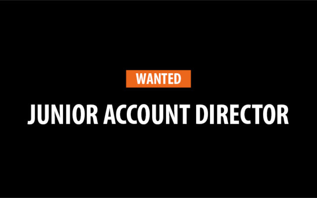 junior account director job ad
